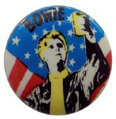 David Bowie - 'Stars and Stripes' Button Badge